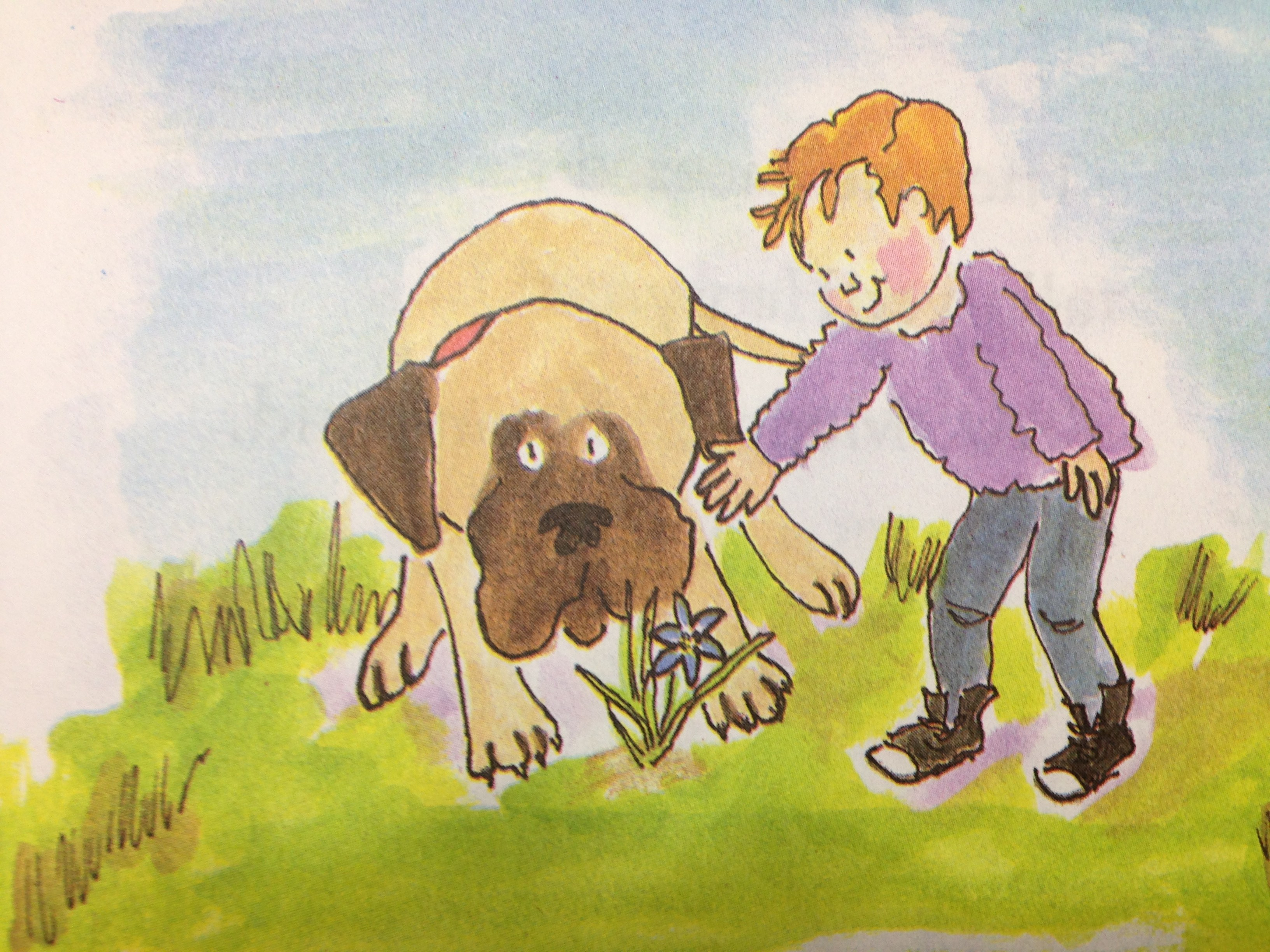 Simple dog coloring page - Henry And Mudge Clump A Day